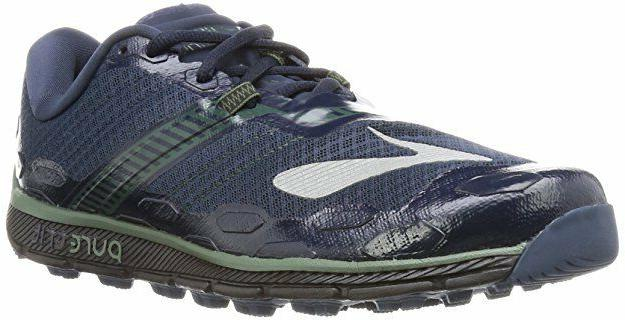 BROOKS MENS RUNNING SHOES PURE GRIT 5 DRESSBLUES/DUCK GREEN/