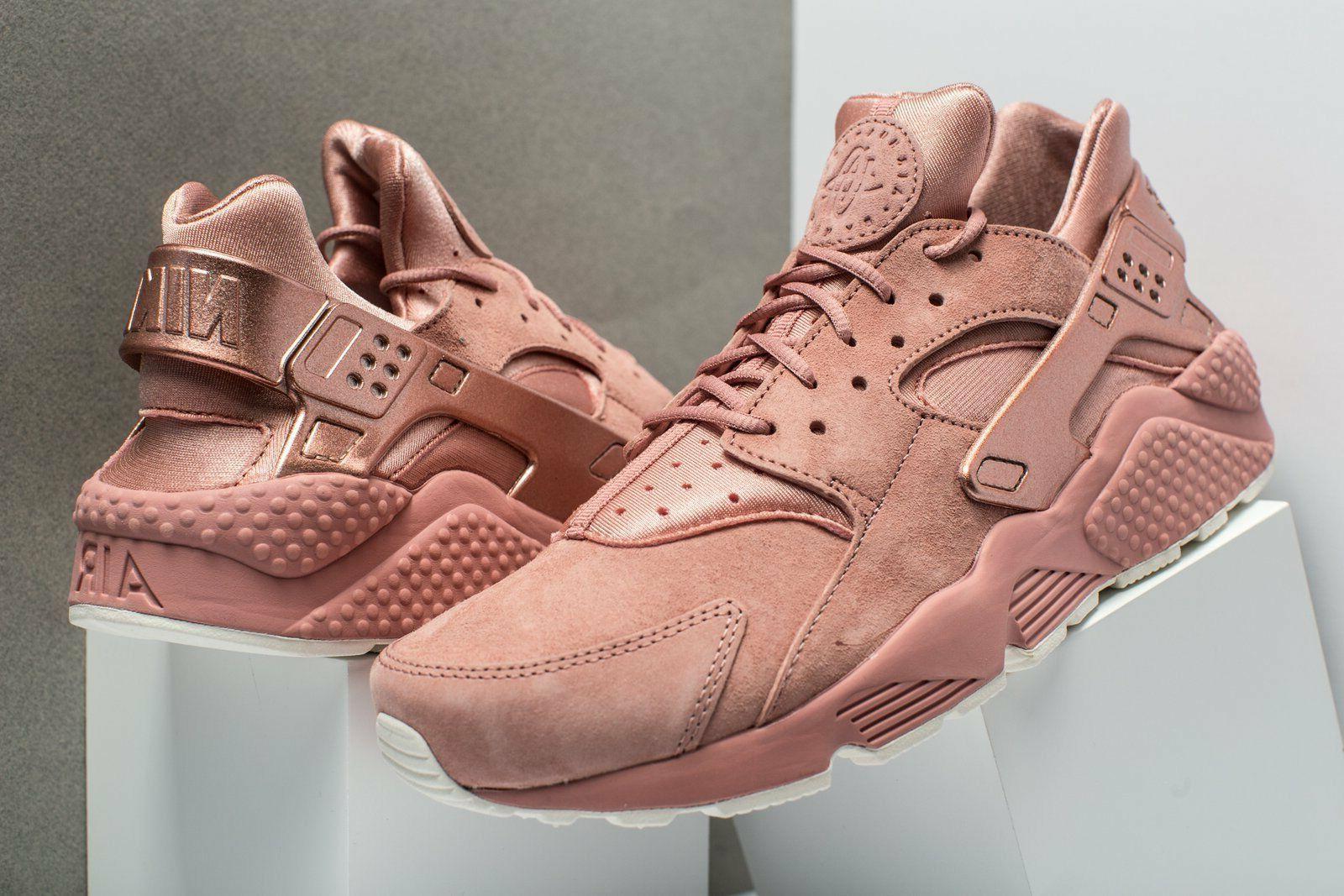 new air huarache run premium rust pink