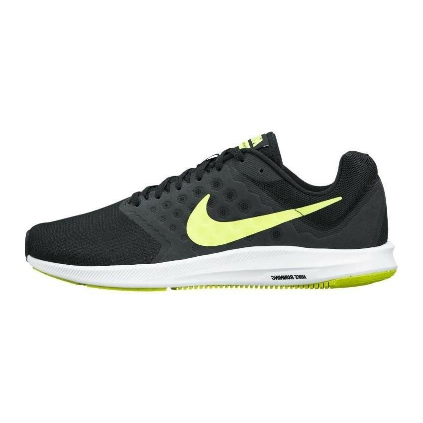 NEW MEN'S NIKE DOWNSHIFTER 7 RUNNING SHOES!!! IN BLACK WHI