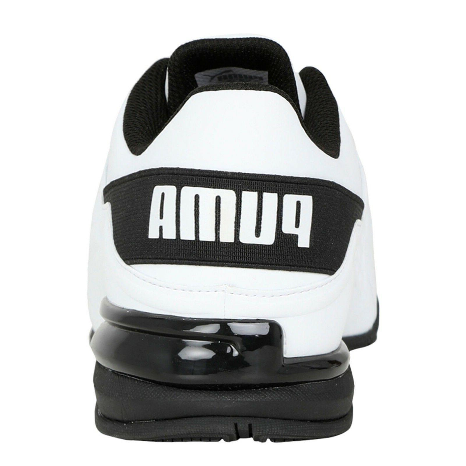 New Mens Puma Runner white black IN
