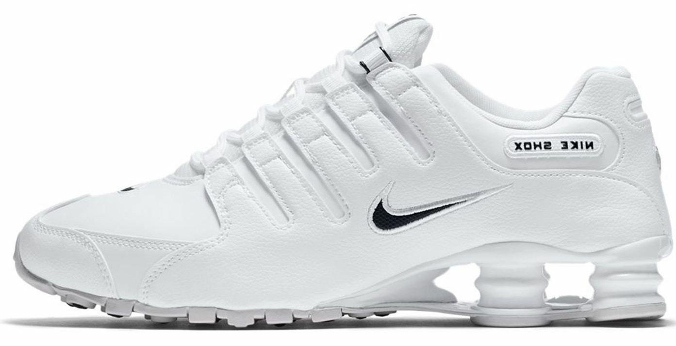 New NIKE Shox NZ Premium Running Shoes Mens white/black all