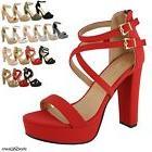 New Women's Ankle Strap Fashion Platform Chunky Sandals Part