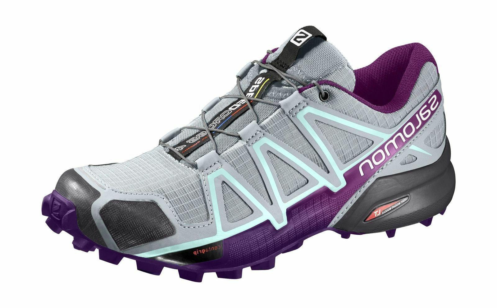 NEW SALOMON WOMEN'S 4 W BATTLEFIELD GREY - VARIOUS SIZE