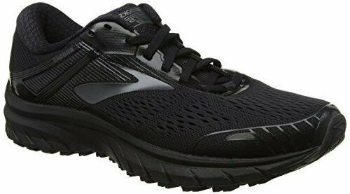 NIB MEN BROOKS 110271 026 ADRENALINE BLACK SHOE SNEAKERS WIDE 4E