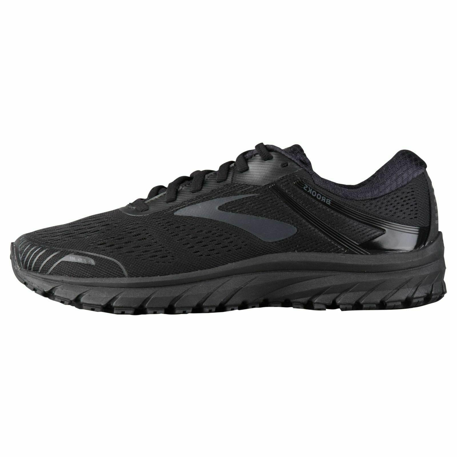 NIB BROOKS 110271 026 BLACK SHOE WIDE 4E