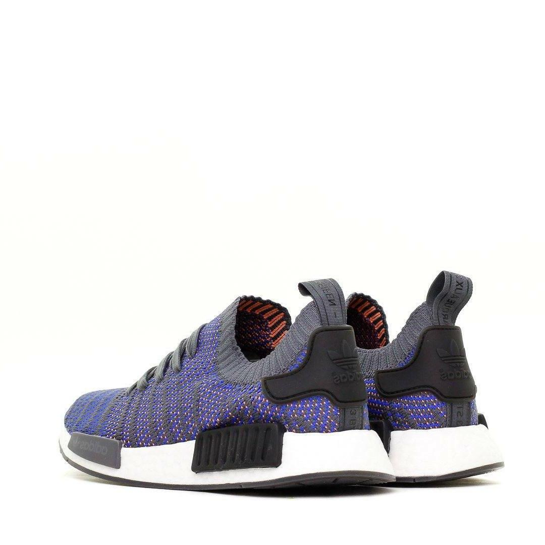 NIB MEN'S NMD R1 STLT PRIMEKNIT BLUE BLACK CORAL SIZES
