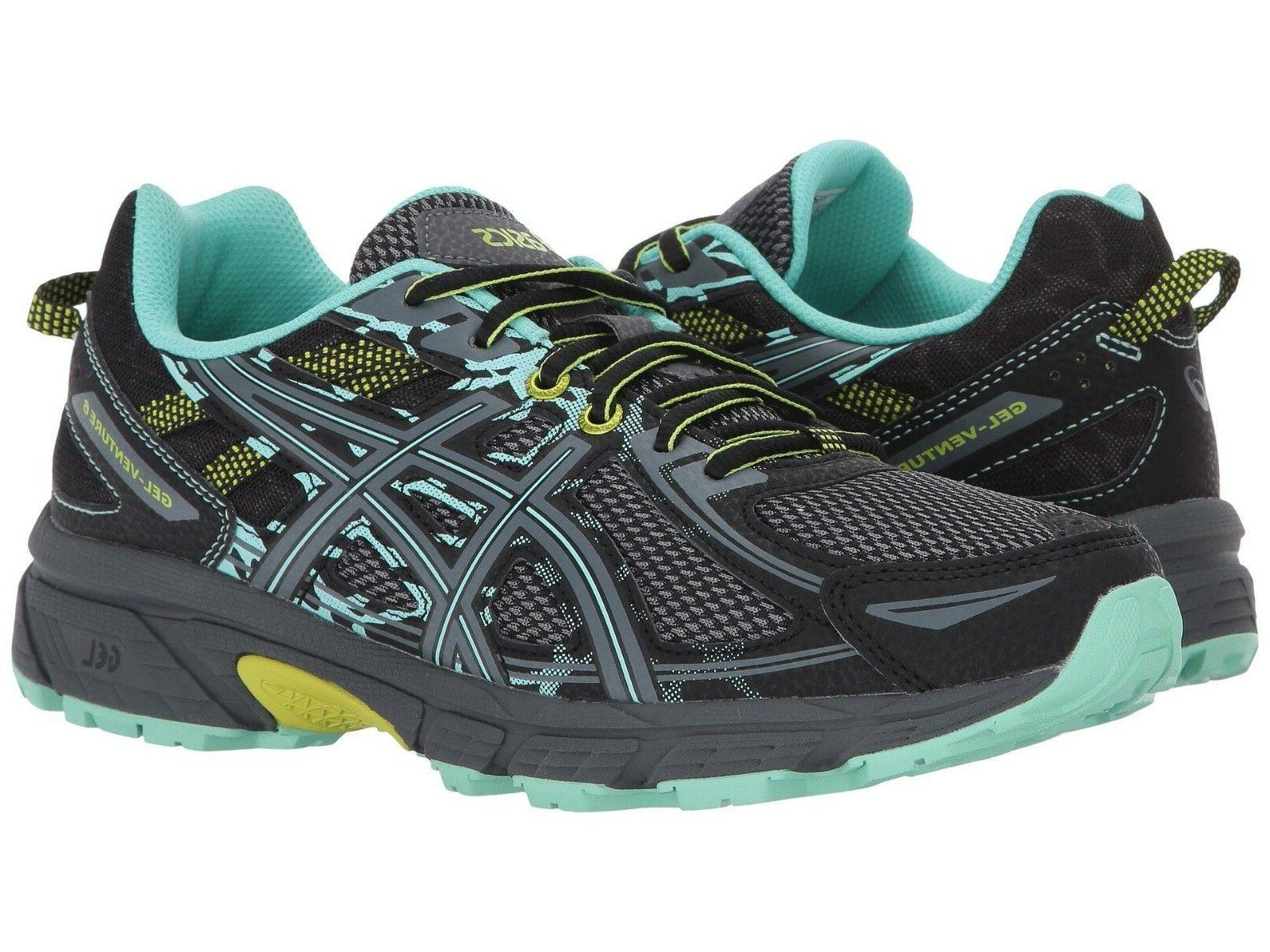 NIB Women's ASICS Gel-Venture® 6 Trail Running Shoes  B & D