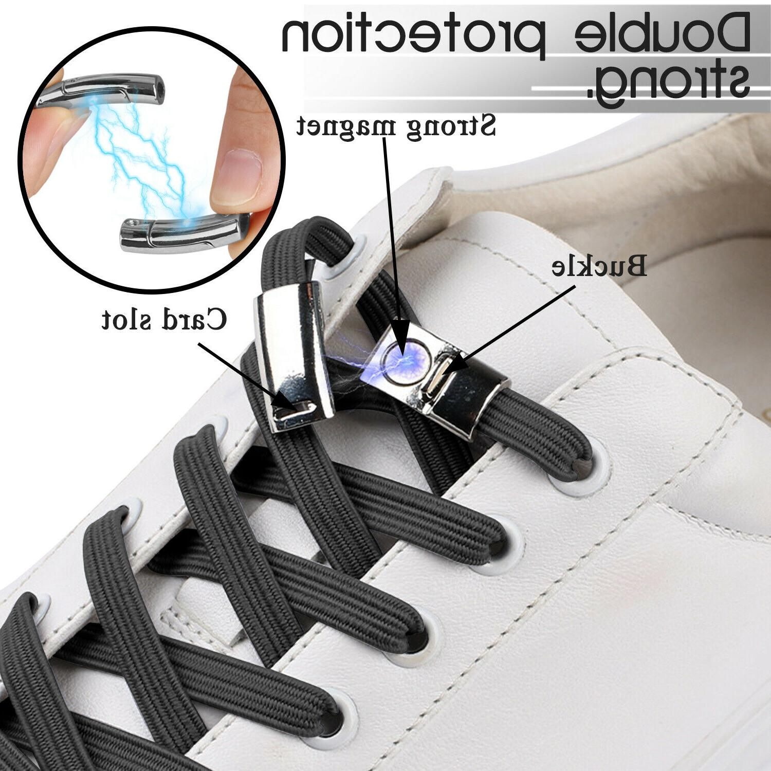 No Tie Magnet Shoe Running Adults