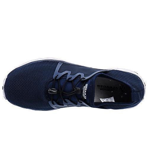 ALEADER Men's Slip On Water Shoes Navy/Gray 8