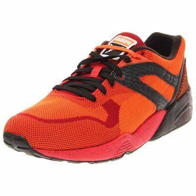 r698 knit mesh splatter running shoes red