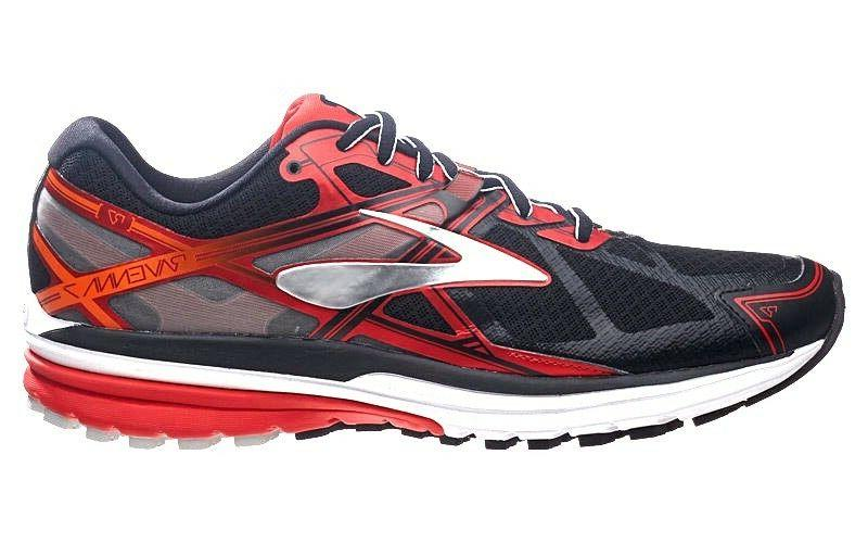 BROOKS RAVENNA 7 BLACK RED SLVR ROAD TRACK NEW MEN'S RUNNING
