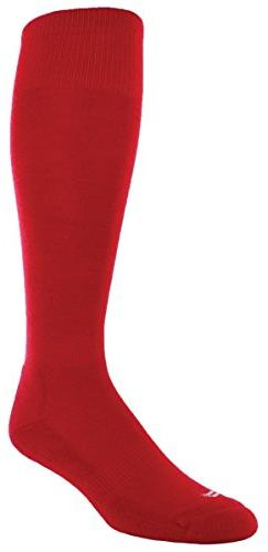 Sof Sole RBI Baseball Team Athletic Performance Socks, Red,