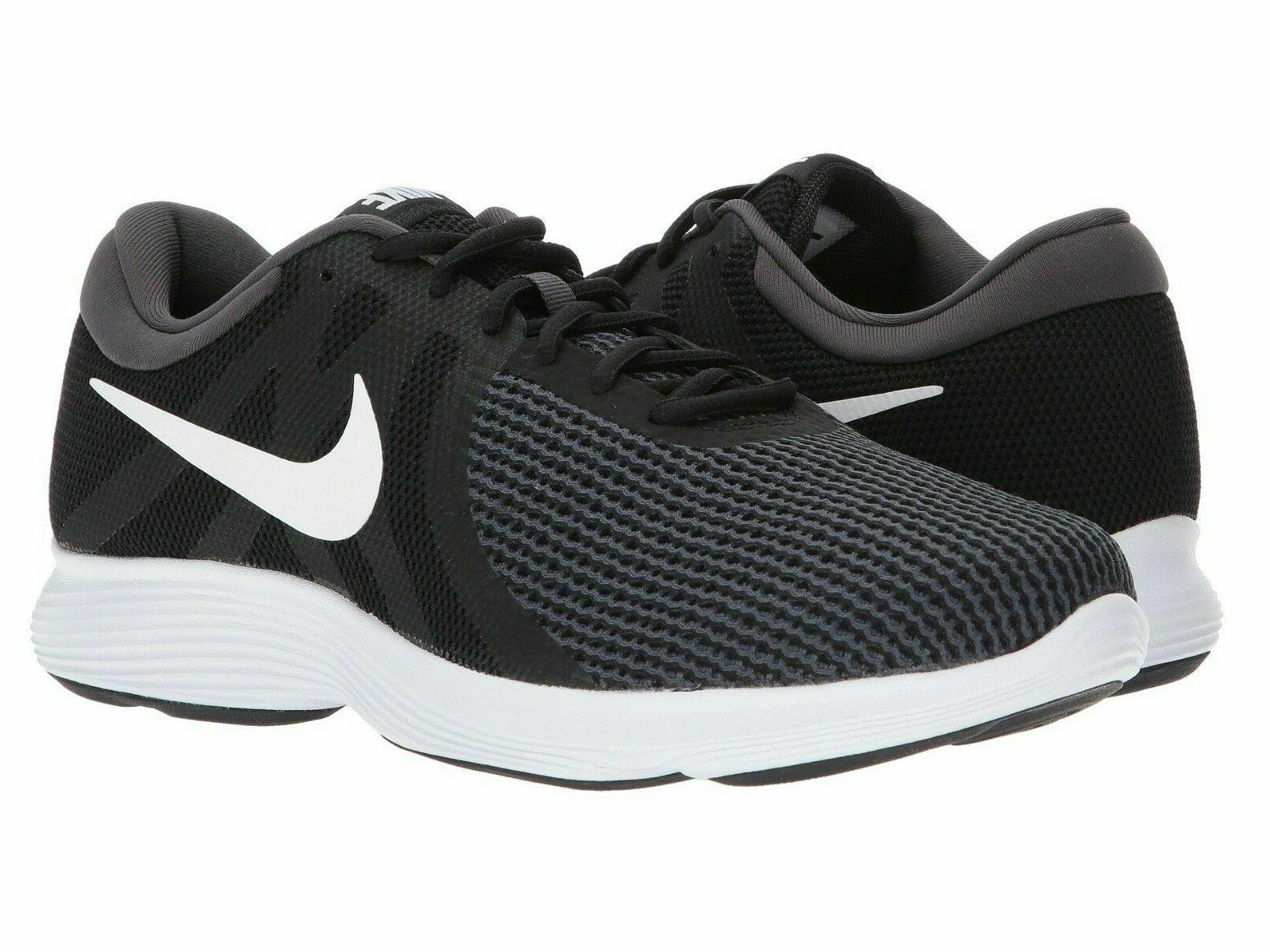 revolution 4 running shoes black white anthracite