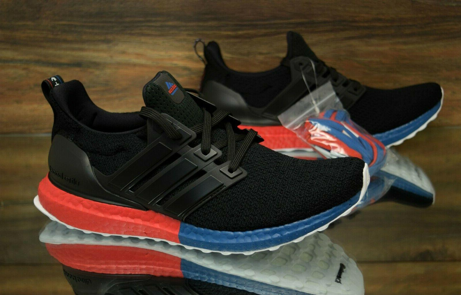 adidas Ultraboost DNA Black Red Blue FX7236 Running Shoes Me