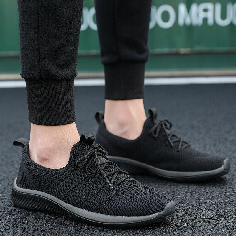 US Mens Running Sneakers Lace Up Breathable New