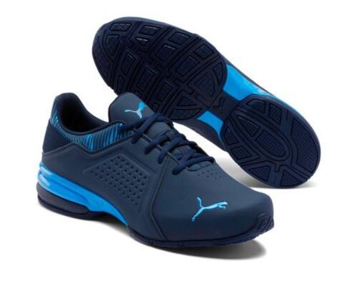 Puma Viz Runner Graphic Men's Sneakers Shoe Running Navy/R