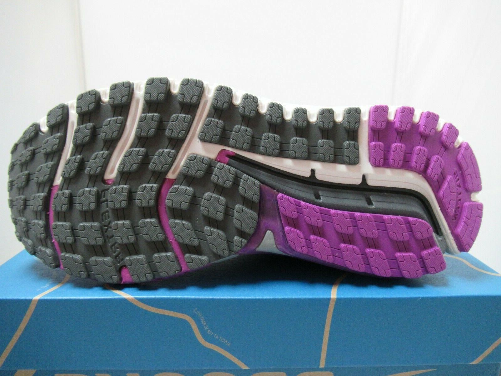 Womens Brooks Ariel 16 Shoes Anthracite Purple Grey