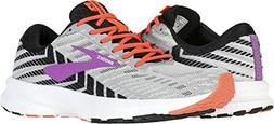 Brooks Women's Launch 6 Grey/Black/Purple 6 B US