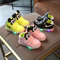 LED Kids Boys Girls Running Shoes Light Up Luminous Children