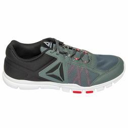0021b19d442 Reebok Memorytech YOURFLEX TRAIN Black Grey Red Running Shoe