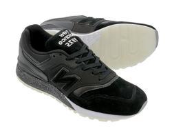 New Balance Men 997.5 Vinyl Pack Size 4 Black Suede White Ru