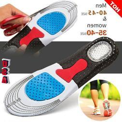 Men Gel Orthotic Sport Running Insoles Insert Shoe Pad Arch