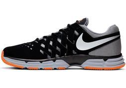 Men Nike Lunar Fingertrap Tr Running Shoes Black Grey Silver