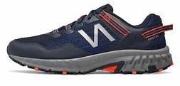 New Balance Men's 410V6 Trail Shoes Navy With Orange & Grey