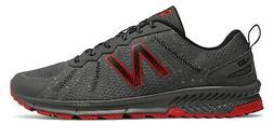 New Balance Men's 590v4 Trail Shoes Grey with Red