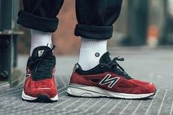 New Balance Men's 990V4 Made In US Shoes  Mercury Red / Blac