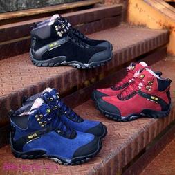 Men's Boys Boots Hiking Sneakers Winter Fur Warm Athletic Ru