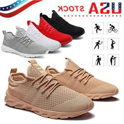 Men's Comfortable Breathable Sneakers Sports Running Trainin