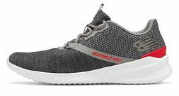 New Balance Men's CUSH+ District Run Shoes Grey with Red