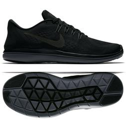 MEN'S NIKE FLEX 2017 RN RUNNING SHOES  BLACK/DK-GREY 898457