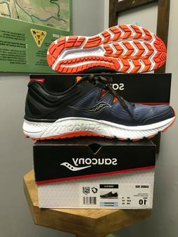Saucony Men's Guide ISO Running Shoe Grey/Black/Orange Size