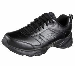 Men's Skechers® Haniger Black Running Athletic Shoes Size 1