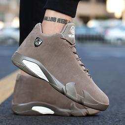 Men's Leather Ankle Shoes Comfort waterproof Running Outdoor