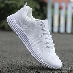 Men's Lightweight Breathable Running  Knit Tennis Sneakers C