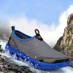 Men's Mesh Aqua Water Shoes Quick-Dry Slip-on Beach Pool Swi