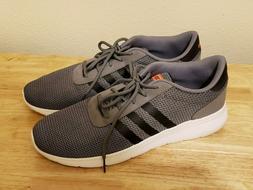 Men's Adidas Neo Lite Racer Grey Black Orange Running Shoes