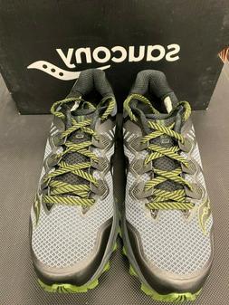 Saucony Men's Peregrine 8 Trail Running Shoes, Grey/Black/Gr