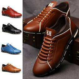 Men's Running Shoes Outdoor Casual Leather Shoes Breathable