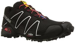 Salomon Men's Speedcross 3 Trail Running Shoe,Black/Black/Si