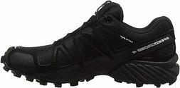 Salomon Men's Speedcross 4 Trail Running Shoes, Black/Black/