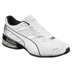 Men's Puma Tazon 6 FM Running Shoes White / Puma Silver / Bl