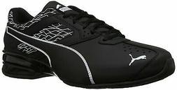 PUMA Men's Tazon 6 Fracture FM Sneaker, Black Black, 11.5 M