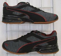 Men's Tazon 6 Heather Rip Sneakers, New Iron Blk Gray Mesh S