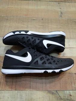 Nike Men's Train Speed 4 Black and White  Running Shoe Size
