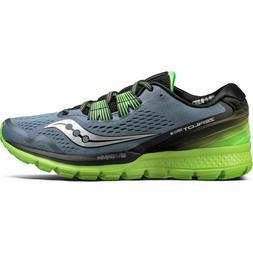 Saucony Men's Zealot ISO 3 Grey/Green Running Shoes Size 10.