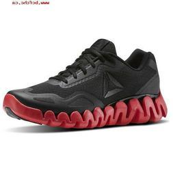 Reebok Men's Zig Pulse Mens Black Red Sole Running Shoes CM8